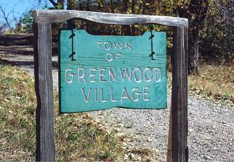 Town of Greenwood Village sign
